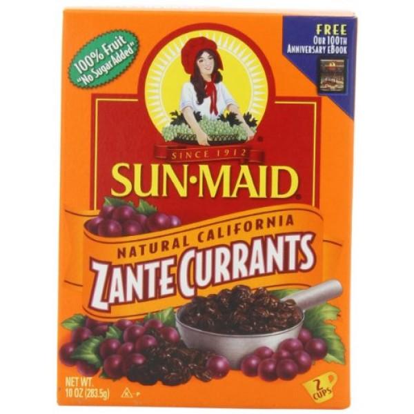 Sun Maid California Zante Currants, 10-Ounce Boxes Pack of 6