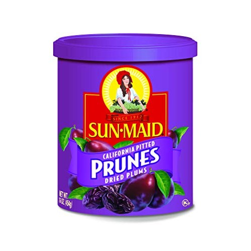 Sun-Maid Dried Prunes from Pitted Plums Canister, 16 OZ Pack of 3