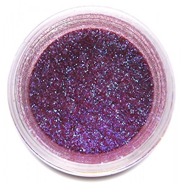 Plum Glitter Dust, 5 gram container