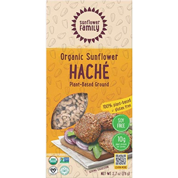 SunflowerFamily Organic Sunflower Haché - Single-Ingredient Glut...