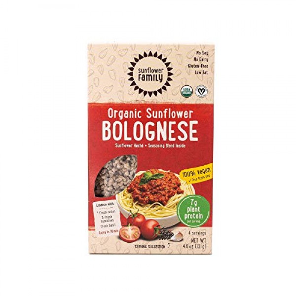 SunflowerFamily Organic Sunflower Bolognese - Plant Based Meat A...