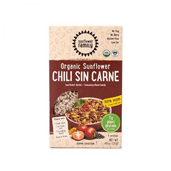 SunflowerFamily Organic Sunflower Chili Sin Carne - Textured Veg...