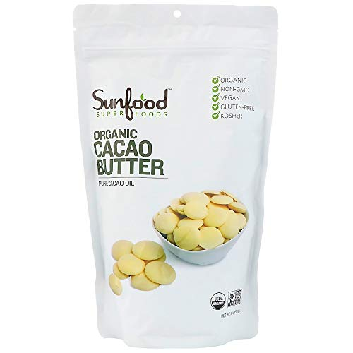 Sunfood Superfoods Organic Cacao Butter. 100% Pure Cacao Bean Oi...