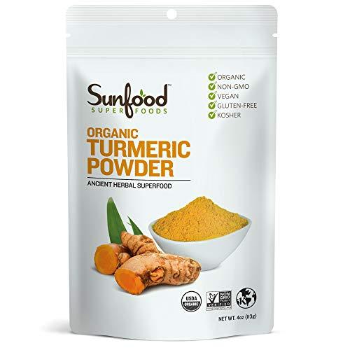 Sunfood Superfoods Organic Turmeric Root Powder - 100% Pure Medi...