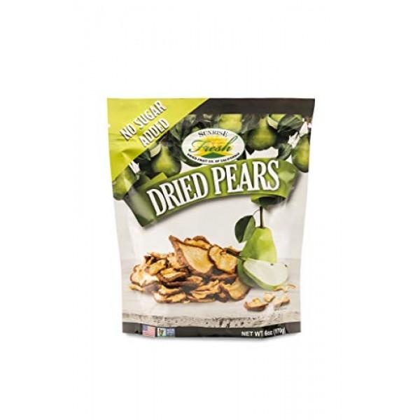 Dried California Pears, No Sulfur, No added sugar