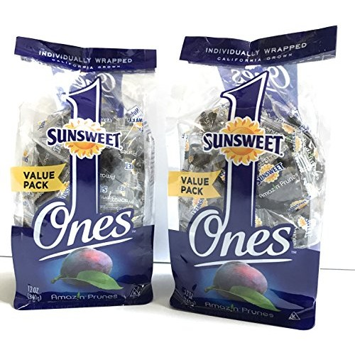 Sunsweet Individual Pitted Prunes Value Pack - 2 Packs 12 oz ea...