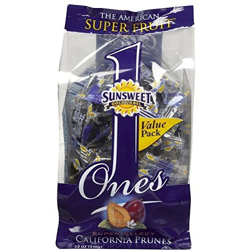 Sunsweet Ones California Prunes, 12 Ounce Pack of 3