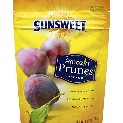 Sunsweet Amazin Prunes Pitted 8oz Pack of 6