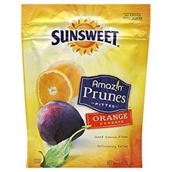Sunsweet Amaz!n Prunes, Pitted, Orange Essence 6oz Pack of 3