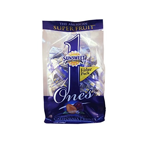 Sunsweet Ones Individually Wrapped Dried Prunes Value Pack 12 o...
