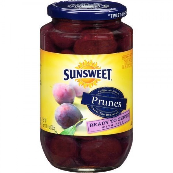 Sunsweet Ready to Serve Cooked Prunes 25oz Jar Pack of 4