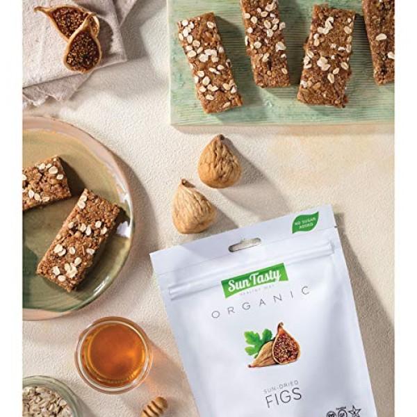 Sun Tasty Organic Sun-Dried Figs 2.25 lbs. Vegan, Gluten-Free, U...