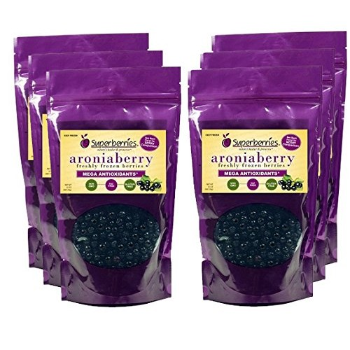 6 Pk Organic Fresh-Frozen Aroniaberries Chokeberry, 32 Oz. Pac...