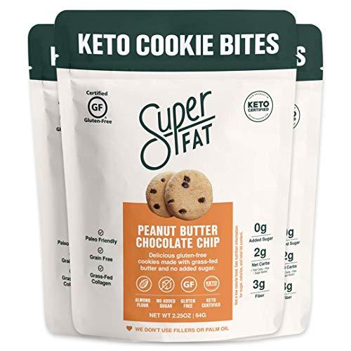 SuperFat Cookies Keto Snack Low Carb Food Cookies - Peanut Butte...