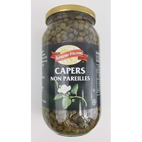 Supremo Italiano Capers, Non Pareilles, 32 Oz 22 Oz Drained 1 Jar