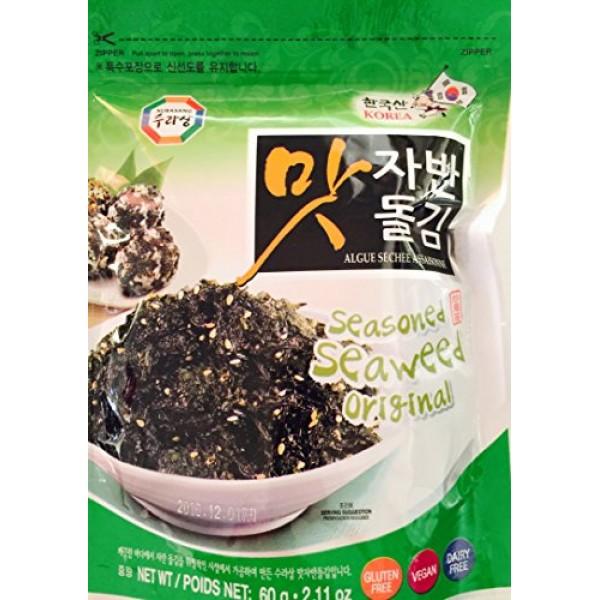 Seasoned Laver with Sesame 60g Seaweed Rice Seasoning & Snack