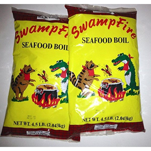 Swamp Fire Seafood Boil Crawfish, Crab, Shrimp 4.5# 2pk