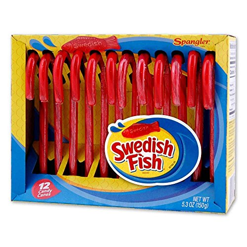 Swedish Fish Candy Canes 2 PACK