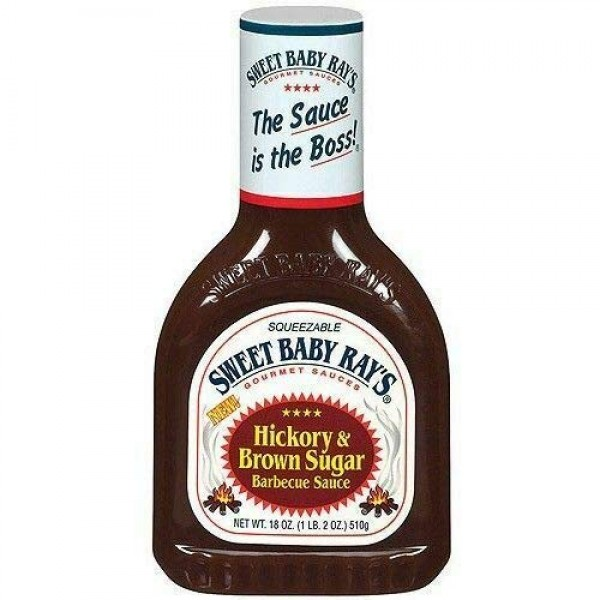 Sweet Baby Rays Hickory & Brown Sugar Barbecue Sauce 18 oz Bottle