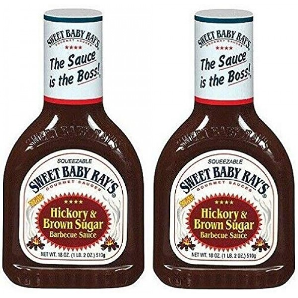 Sweet Baby Rays Hickory & Brown Sugar Barbecue Sauce 18 oz Bott...