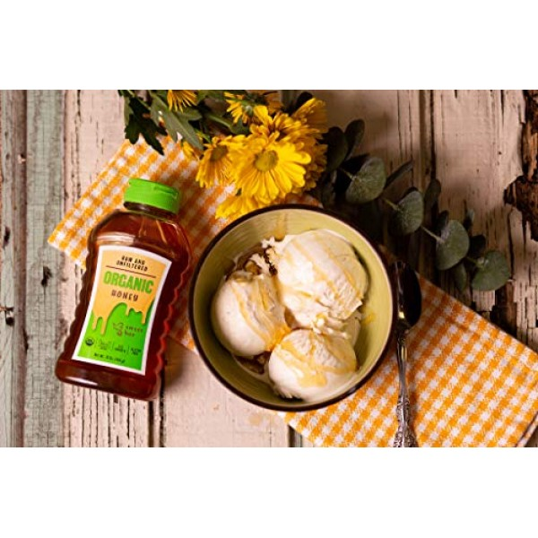 12 oz Humming Bee USDA Certified Organic Honey - No Gluten, Kosh...