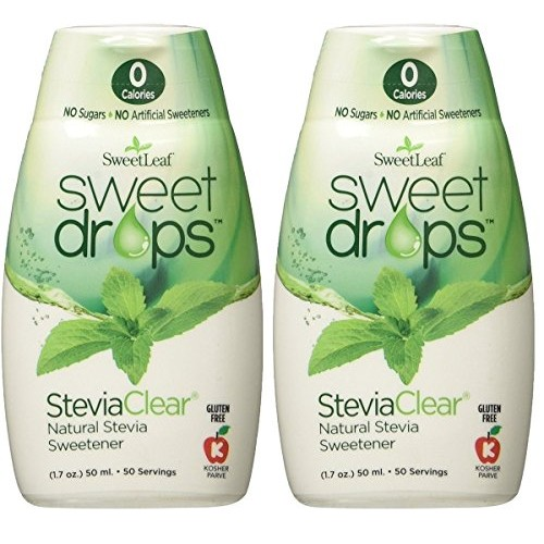 Sweetleaf Sweet Drops Liquid Stevia Sweetener, Steviaclear, 1.7 ...