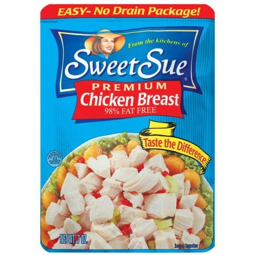 Sweet Sue Premium Chicken Breast, 7-Ounce Pouch Pack of 6