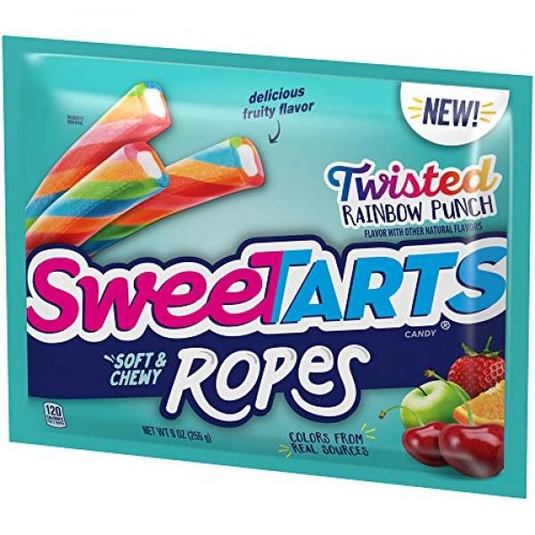 SweeTARTS Twisted Rainbow Ropes, 9 Ounce
