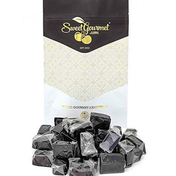 SweetGourmet Dutch Soft Wrapped Licorice Caramels | 1 Pound