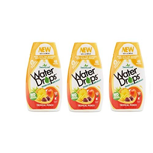 Sweetleaf Water Drops 1.62 fl.oz. 3 Pack (Tropical)