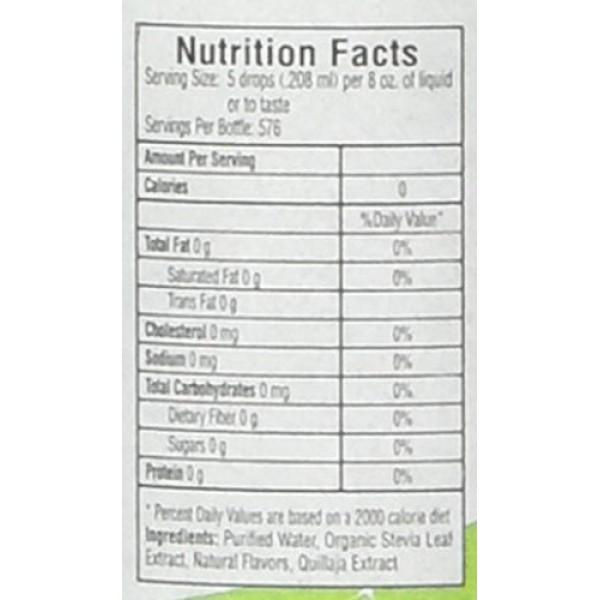 Sweetleaf Stevia Stevia Clear Liquid,4 oz,Pack of 2