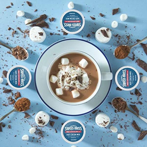 Swiss Miss Milk Chocolate Hot Cocoa, Keurig Single-Serve Hot Cho...