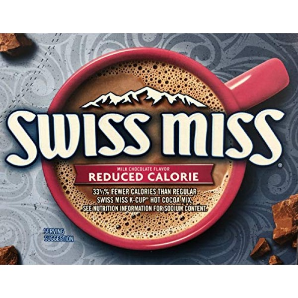 Swiss Miss Reduced Calorie Hot Cocoa K-Cups 72 Count