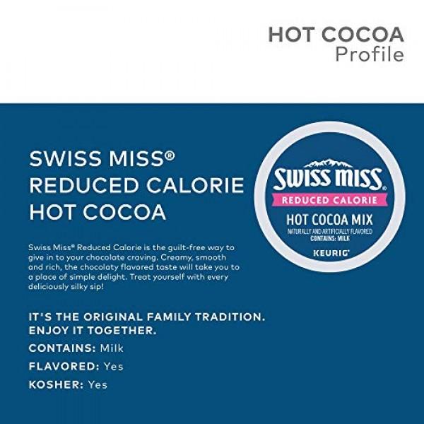 Swiss Miss Sensible Sweets Light Hot Cocoa Keurig Single-Serve K...