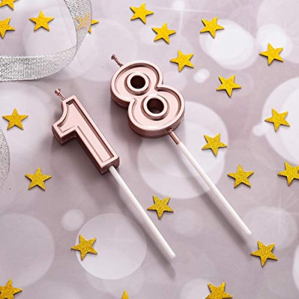18th Birthday Candles Cake Numeral Candles Happy Birthday Cake C...