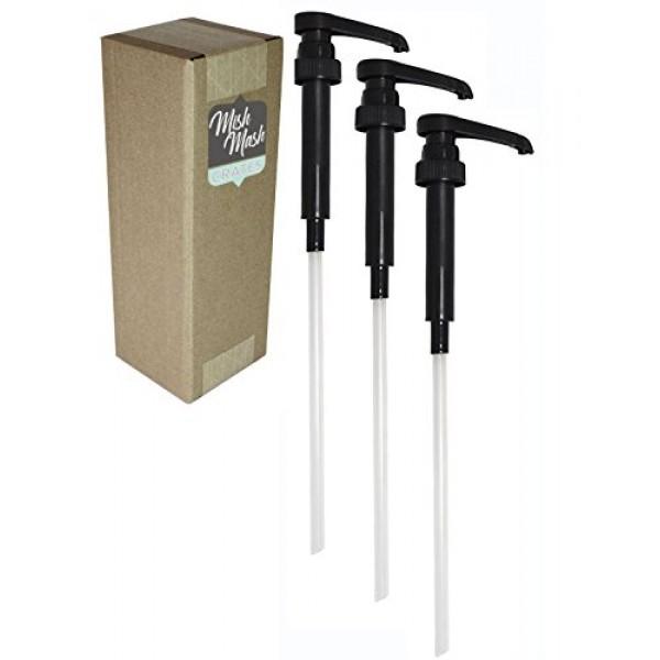 Black Syrup Pump for 750mL 25.4oz Bottles, Pack of 3 Compatib...
