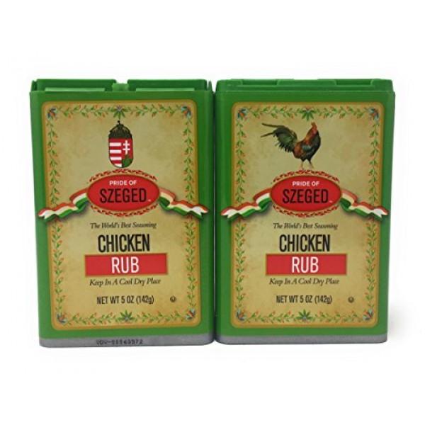 Szeged -Chicken Rub / Gourmet Rub / 2 -5 Oz. Tins