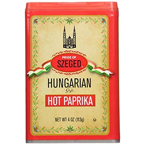 Szeged Hot Hungarian Paprika, 4 ounce Pack of 3