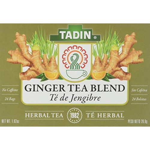 Tadin Herb and Tea Caffeine Free Ginger Root, 24 Count Pack of 6