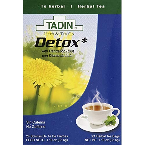 Tadin Herb and Tea Caffeine Free Detox, 24 Count Pack of 1