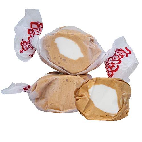 5 LB. Caramel Corn Brown with White Center Salt Water Taffy - ...