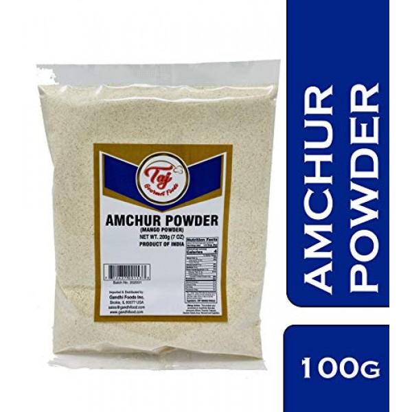 TAJ Premium Indian Amchur Powder Dried Mango Powder, 3.5-Ounce