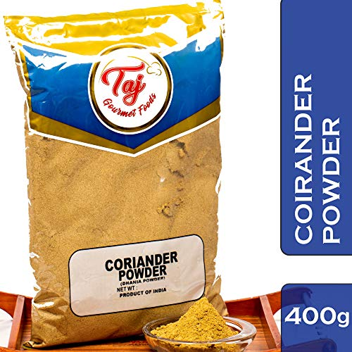 TAJ Premium Indian Coriander Powder, Dhania Powder, 14-Ounce