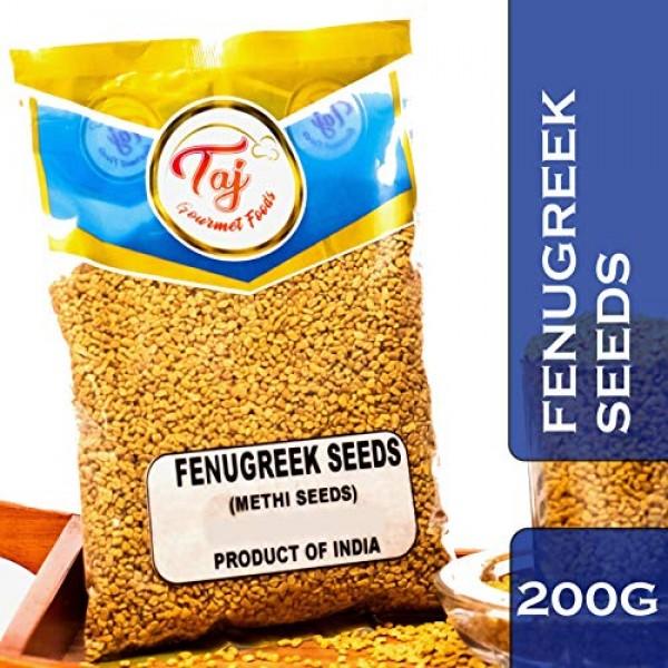 TAJ Premium Indian Methi Seeds, Fenugreek Seeds, 7-Ounce 200g