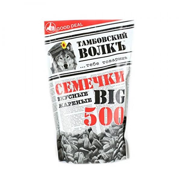 Tambovskiy Volk Sunflower Seeds Roasted Unsalted 17.6oz/500g