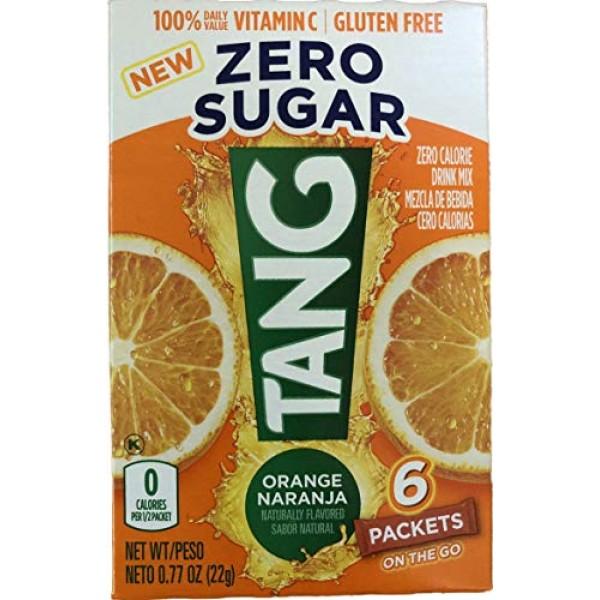 Tang On The Go! Orange Naranja Vitamin C Drink Mix 6 easy open p...
