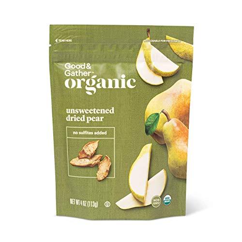 Good & Gather- Organic Dried Unsweetened Pear Snacks - 4oz