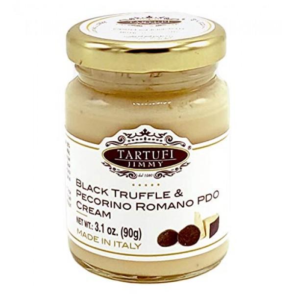 PECORINO ROMANO & BLACK Truffle 3.7 oz By Tita Italia