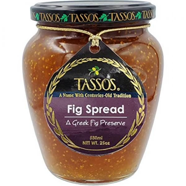 Tassos Traditional Greek Fig Preserve Spread 1 Jar
