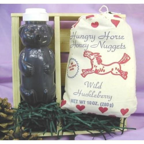 Gift Crate: 8.5oz Honey Bear & 10oz Huckleberry Biscuit Mix